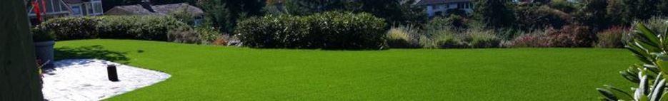 تنسيق الحديقة المنزلية عند وضع النجيلة الاصطناعية