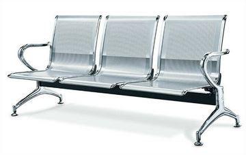 صورة لكرسي انتظار 3 مقعد 044-0011  فضي رمادي
