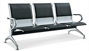 صورة لكرسي انتظار 3 مقعد  044-0012  جلد بني