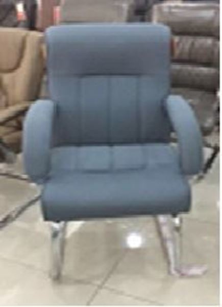 صورة لكرسي ثابت جلد 043-0064 بني
