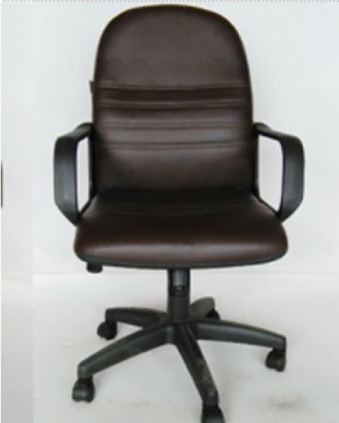 صورة لكرسي دوار  ظهر طويل جلد 042-0112 اسود  HB