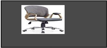 صورة لكرسي دوار  ظهر شبك 042-0123 أسود