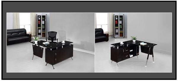 صورة لمكاتب موظفين 120سم 010-0105 Black