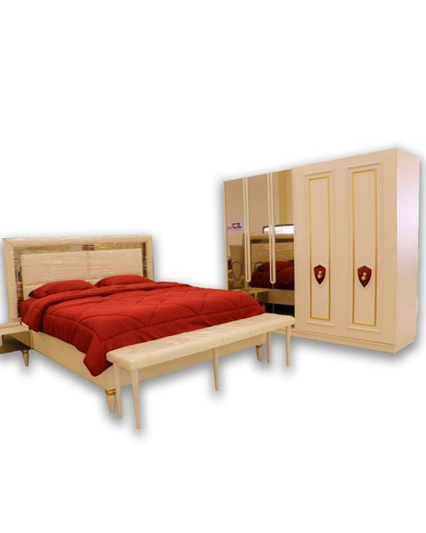 صورة لغرفة نوم مزدوج SANTOS  703 -0851 - WHITE