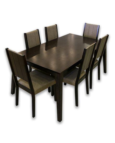 صورة لطاولة طعام 6 كرسي قماش بيج 202-0051