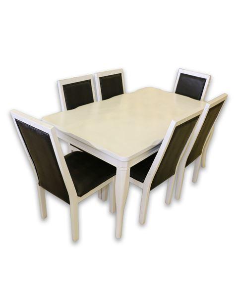 صورة لطاولة طعام 6 كرسي 202-0135 WHITE