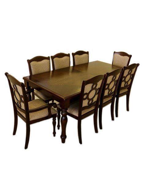 صورة لطاولة طعام 8 كرسي 202-0157 ANTIQUE OAK