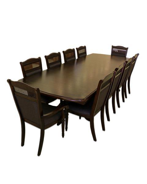 صورة لطاولة طعام 202-0169  10 كرسي  CAPPUCCINO DARK