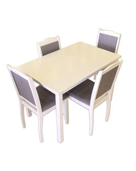 صورة لطاولة طعام 202-0165  4 كرسي WHITE GREY