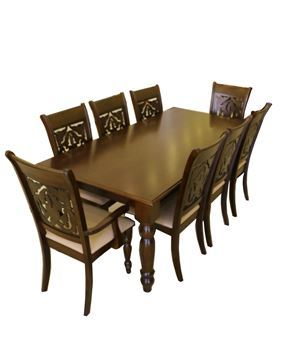 صورة لطاولة طعام 202-0166  8 كرسي  L.BROWN
