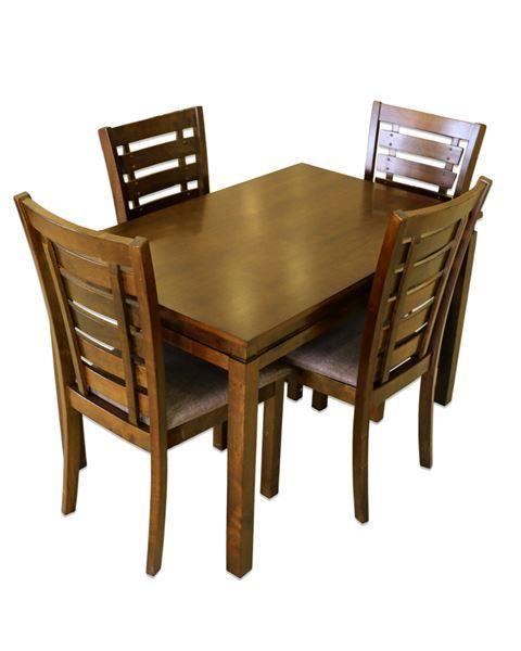 صورة لطاولة طعام 4 كرسي  202-0139  DARK BROWN