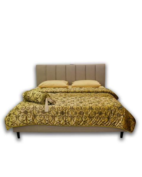 صورة لسرير مزدوج 102-0004  بيج غامق