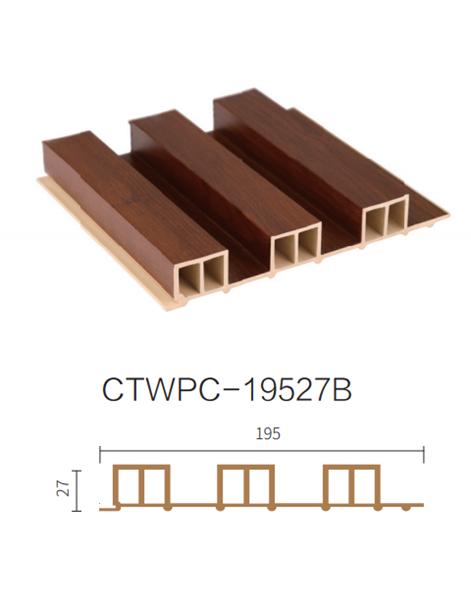 ألواح جدران داخلية بديل خشب .BROWN.L2900.W195