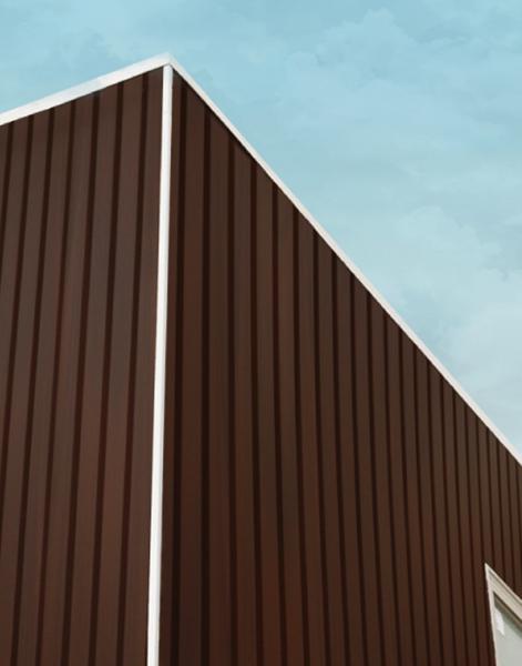 ألواح جدران خارجية بديل خشب .Wood.Red.L2900.W219